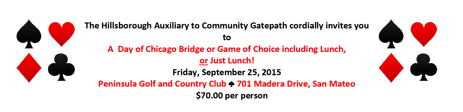 Bridge Tournament 2015